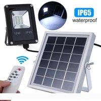 Luz Solar 10W LED Solar Lamp Sensor Projector Luz Waterproof IP65 exterior Segurança Emergência Garden Street