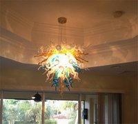 100% Mund geblasen Borosilikat Murano Glas Multicolor Pendelleuchte Dale Chihuly Art Wohnzimmer Hand Geblasenes Glas Kronleuchter