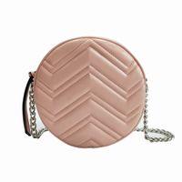 أزياء المرأة marmont البسيطة دائرية حقيبة الكتف الفضة سلسلة crossbody حزمة السيدات سوهو حقيبة ديسكو رسول حقيبة سيدة محفظة صغيرة حقيبة يد