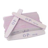 OEM Customized private logo printed finger nail file disposable sandpaper 100 180 grit zebra nail files