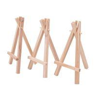 Düğün Yer Adı Tutucu Menüsü Kurulu Minis Tripod Şövale Mini Display Standı için 8x15cm Doğal Ahşap Mini Tripod Şövale Mini Display Stand