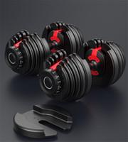 EEUU Stock ajustable con mancuernas 5-52.5lbs 24kg Una Buena Condición pesas de peso Construir tonificar los músculos de fuerza Equipo al aire libre Deportes