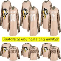 Camo Veterans Day Practice Pittsburgh Penguins Jerseys 87 Si...