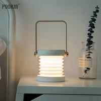 Lamterne portatili Creative LED multifunzione Camping Camping Lantern Pieghevole Desk Desk Dimmer