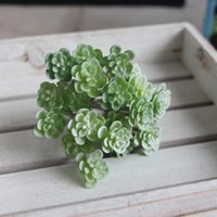 24 heads Artificial Succulent Grass Plant Fake Landscape Lan...