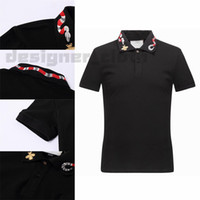 20ss Spring Italy Tee Designer T Shirt Polo Shirts High Street Embroidery Garter Snakes Little Bee Printing Clothing Mens Brand Polo Shirt