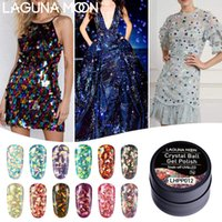 Crystal Ball LAGUNAMOON 5ML Gel Glitter UV LED polacco Soak Off vernice lacca di Pedicure del manicure del gel Nail Polish Long Lasting