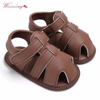WEIXINBUY Newborn Baby Boys Shoes PU Leather kids schoenen First Walkers Soft Soled Infant Prewalker