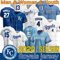 Kansas City Whit Merrifield Jersey Bo Jackson Jorge Soler Hunter Dozier Bubba Starling Alex Gordon Ryan O'Hearn 2020 Nova temporada Jerseys