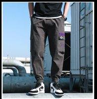 ZhuZunZhe 2020 İlkbahar / Yaz 2020 yeni stil moda tozluk erkek tulum Kore versiyonu eğilim çok cepli erkekler rahat pantolon