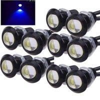 100 adet Kartal Göz LED Derin Mavi Işık Ultra Ince Gündüz Çalışan Işıkları DRL Kuyruk Işıkları Ampul 12 V Sis Kuyruk Yedekleme Işık Işaretleyici Araba Aksesuarları