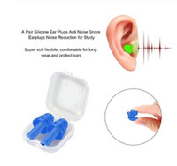 Caracol del oído de silicona sólida espuma Tapones sueño contra el Ruido El ronquido tapones para los oídos de cancelación de ruido para dormir Reducción de ruido 35 * 29 * 14mm