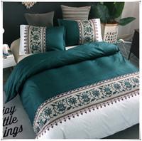 Designer Bed Comforters Sets Simple Luxury King Size Bedding Set Jacquard Floral Printed Bed Linen Duvet Cover Sets Quilt Covers Bedclothes
