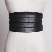 mode pu cuir de la piste des femmes Cummerbund élastiques femme manteau robe Corsets Waistband ceintures décoration large ceinture R1775 CX200722