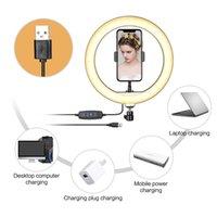 Fábrica de 10 polegadas LED Light Anel fotográfica selfie Iluminação Anel com suporte para Smartphone Youtube Maquiagem Video Studio tripé Ri