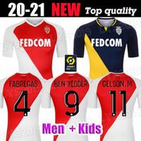 MAILLOT DE FOOT 20 21 AS MONACO FOCZER JERSYS KEIATA BALDE BEN YEDDER GELSON 2020 2021 Home Away Dritter Fabreags Golovin Football Shirt