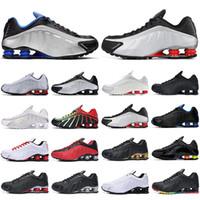 Nueva R4 zapatos corrientes del hombre corredores triple de plata negro de oro EE.UU. Juego Real cometa rojo hombres Bred los deportes al aire libre de las zapatillas de deporte para correr a pie