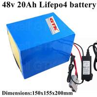 48V 1400W LiFePO4 20Ah LiFePO4 Batterie 32650 Zellen Elektrofahrzeuge BMS Inverter + 58.4v 5A Ladegerät Roller