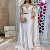 Noir marocain Kaftan robes de soirée en dentelle femmes arabes musulmanes Appliques Robes de bal formelles Robes Party