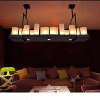 كيفن رايلي مذبح الحديثة قلادة مصباح الثريا LED لوفت الأسود الأجهزة زجاج شنقا قلادة أضواء الثريا المباريات