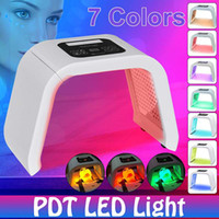 Высокая quality7 Цвет LED Face Care Beauty Machine PDT LED Rejuvenate морщины подтягивание кожи Угри морщины на лицо Светотерапии SPA Маски