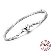 Высокое качество 16-23cm Оригинальный Solid S925 Silver Snake Chain браслет для женщин DIY ювелирных решений