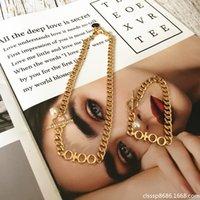 2021 AMILY LETTRE STAR Même collier de style métal Collier Trend Trend All-match Bracelet or de perle pour femmes