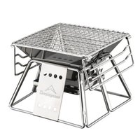 BBQ portable en acier inoxydable Grill Surface non-adhésive facile pliante Gril camping en plein air de pique-nique barbecue outil