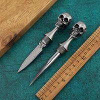 M390 شفرة الجمجمة أداة اليد لكمة سكين مع أداة الفولاذ المقاوم للصدأ التعامل مع بقاء ثابت نصل السكين EDC الشاي