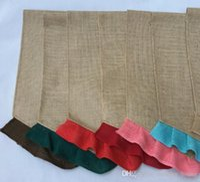Renkli Fırfır Çuval bezi Bahçe Bayraklar 31 * 46cm DIY Jüt Liene Yard Bayrak Ev Dekorasyon Asma Bayrak 015