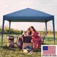 Portable Partie Shade Tentes Bleu Pique-nique Pique-nique Jour de pluie Pays-Billy Saunshade 3 x 3m Pratique imperméable à l'eau pliante Tente pliante US Stock