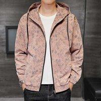 Herren-Designer-Jacke Herbst-Winter-Stehkragen Reißverschluss-Jacken beiläufiges Plus Size Mantel Männlich Kleidung