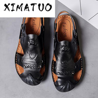 New Male Shoes Genuine Leather Men Sandals Summer Shoes Beac...