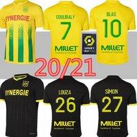 20 21 FC Nantes Soccer Jersey Home Away Maillot de Foot 2020 2021 Simon Louza A Toure Blas Coco Coulibaly Hombres adultos Camisas de fútbol