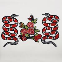 5 шт Новой вышитые животных змей DIY одежда патч ткани патчи аксессуары одежды большой костюм аксессуары вышивка патчи
