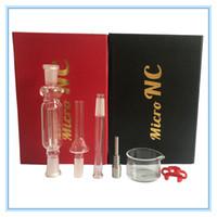 Nectar Collector Satz 10mm mit domeless Quarz Nagel 10mm nector Sammler Bohrinseln Glasrohr Wasserpfeifen Glas DHL Free to USA