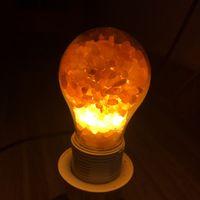 Usine ampoule de sel de cristal de la lampe de sel de l'Himalaya directe rose ampoule sel chambre créative lumière chevet de nuit