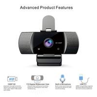 Dizüstü Masaüstü için Mikrofonlar ile Full HD mini USB Webcam 1080P Akış Web Kamerası manualfocus Webcam USB Bilgisayar Kamera