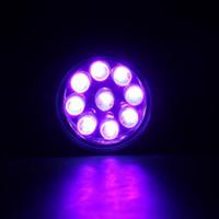 9LED الأشعة فوق البنفسجية ضوء مصباح يدوي محمول مصباح بطارية صغيرة فوق البنفسجية أضواء الأرجواني مصباح يدوي لمكافحة وهمية للكشف عن المال البول العقرب