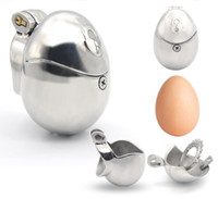 2020 New Stainless Steel Masculino Egg-Type totalmente Restraint pica gaiola Spikes Penis Anel Bondage Chastity Dispositivo Adult Sex Toy 3 Tamanho BDSM Brinquedos