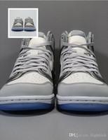상자 디자이너 높은 OG 그레이 ransparent 크리스탈 신발로 한 캐주얼 신발 킴 존스 (Kim Jones)의 1 초 크리스탈 바닥 럭셔리 캐주얼 신발을 양각.