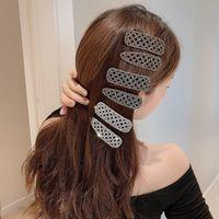 Rhinestone Pelo Clip Girls Snap Barrette Stick Hairpin Sexy Styling Accesorios 2020 Mujeres Geométrico Pelo Garra Abrazadera Cangrejo Cristal Ornamento