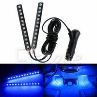New White 2X12 LED Light Car intérieur Footwell sol Décor Atmosphère Neon Light Strip Sep10 Drop Ship Z7I3 #