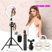 4in1 16cm 26cm LED LED Light Loop Light Photo Studio Camera Video Selfie Light per YouTube Makeup Selfie con 210 cm Tripod Tipo del telefono clip
