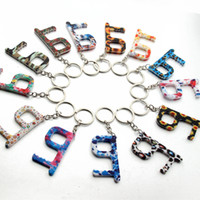 Fashion Keyrings Flower Elevator Buttons Contactless Tool Do...