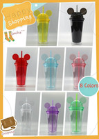 Cheapest!!! 8Colors 15oz Mouse Ear Tumbler with Dome Lid 450...