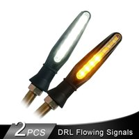 2PCS Motorcycle LED Turn Signals Light Flowing Water DRL Tail Indicator Lamp