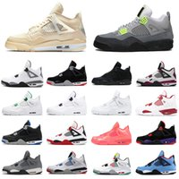 air jordan retro 4 4s Männer Basketball-Schuh-Segel Jumpman-Neon-Laser Black Cat Gum Bred Cement RASTA Raptors Flügel Männer Frauen Turnschuhe Art und Weise Sports Turnschuhe