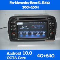 안드로이드 10.0 자동차 DVD 플레이어 GPS 메르세데스 Benz SL-Class SL350 R230 SL55 SL500 SL550 2001-2005 라디오 스테레오 오디오 블루투스 멀티미디어 네비게이션 WiFi Sat Navi DAB +