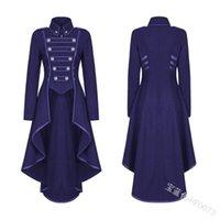 Capacas de la zanja para mujer Jiezuofang Vestido medieval negro para mujeres adultas Punk Victorian Traje retro Renacimiento Gótico Chaqueta Esmoquin Halloween